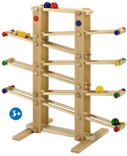 kugelbahn von drewa 70cm hoch zerlegt f r kinder ab 3 jahren holzspielzeug. Black Bedroom Furniture Sets. Home Design Ideas