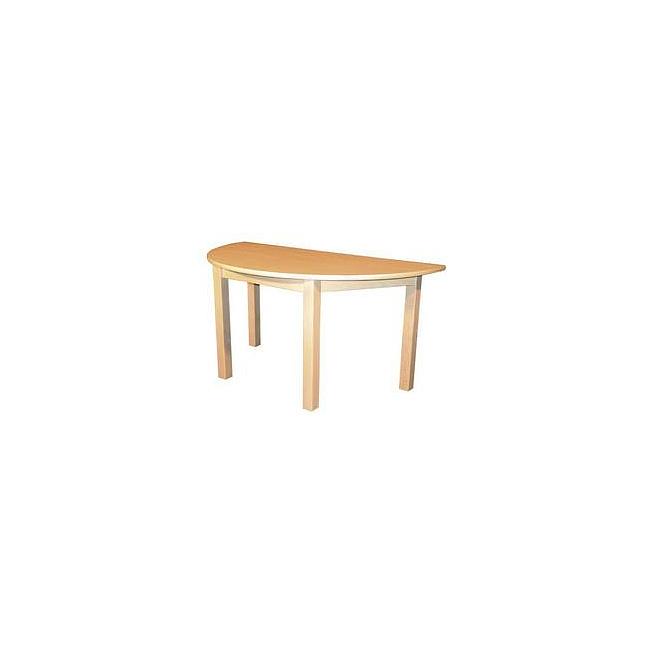 kinder m bel kindertisch halbrund natur 120x60x58 cm kinderm bel. Black Bedroom Furniture Sets. Home Design Ideas